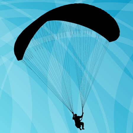 hang gliding: Paragliding active sport abstract background vector for poster