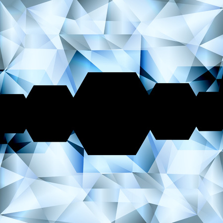 faceting: Diamond abstract vector jewelry background concept for poster Illustration