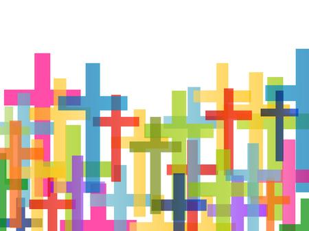 cruz religiosa: Cristianismo religión concepto cruz fondo abstracto ilustración vectorial