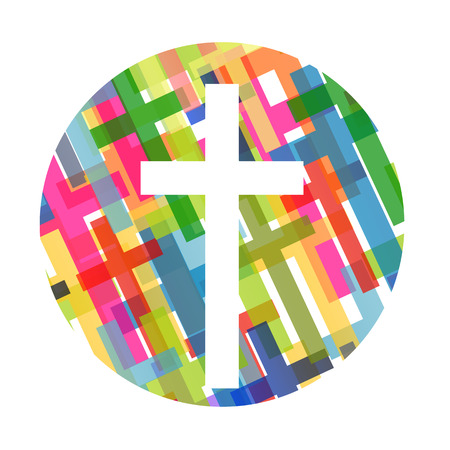 christian: Christianity religion cross concept abstract background vector illustration