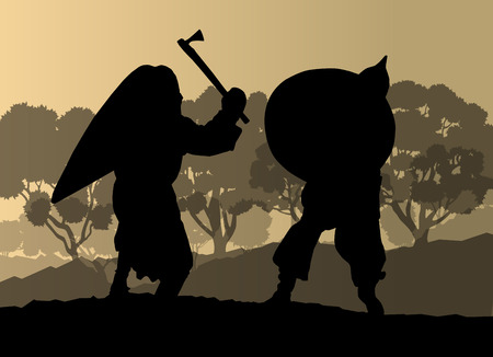 paladin: Medieval warrior, crusader vector background Illustration