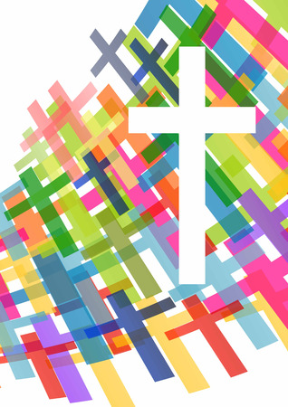 bible study: Christianity religion cross concept abstract background vector illustration
