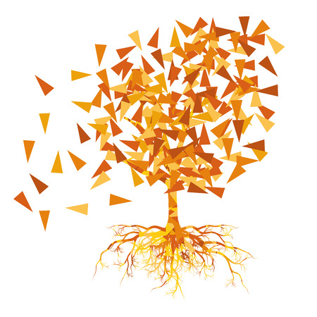 branchy: Autumn tree vector background