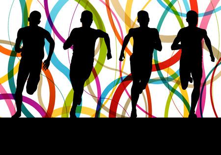 marathon: Running fitness man sprinting and training for marathon concept