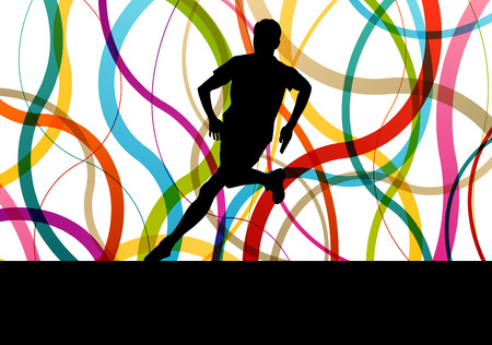 sprinting: Running fitness man sprinting and training for marathon concept