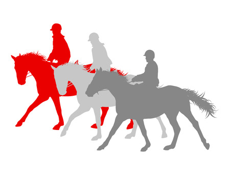 Horse riding winner vector background concept isolated over white for poster