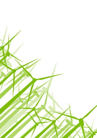 Turbina generatore clean energy concept vector background concept