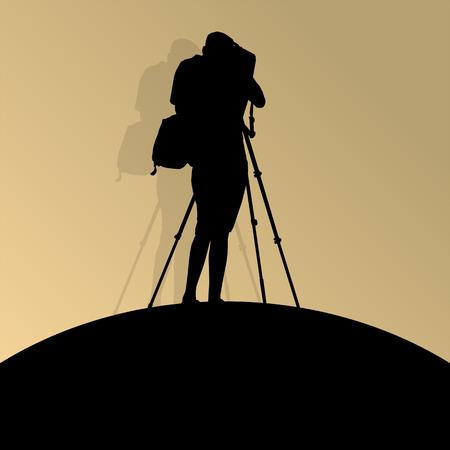 cameraman: Cameraman silhouette vector background