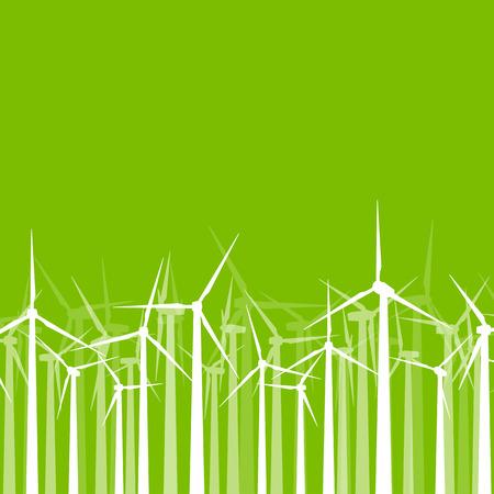 economize: Wind generator turbine clean energy concept vector background concept