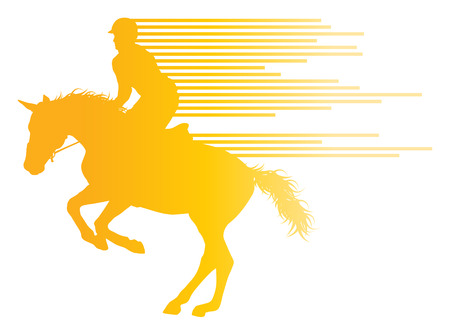 riding horse: Horse riding equestrian sport with horse and rider vector background concept made of stripes Illustration