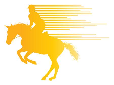 caballo: Paseos a caballo deporte ecuestre con el caballo y el jinete del vector del concepto del fondo hecha de rayas Vectores