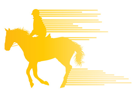 hippodrome: Horse riding equestrian sport with horse and rider vector background concept made of stripes Illustration