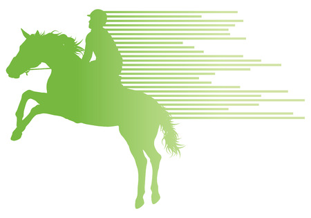 trot: Horse riding equestrian sport with horse and rider vector background concept made of stripes Illustration