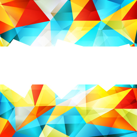 jammed: Geometric triangle mosaic abstract vector background concept