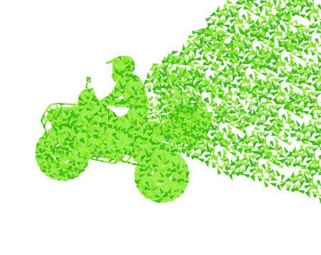 motorbike rider: All terrain vehicle quad motorbike rider Illustration