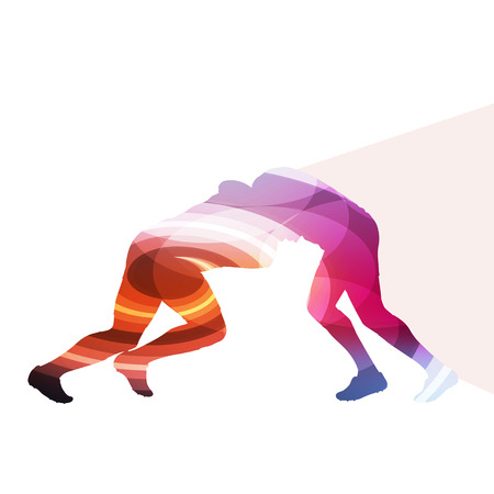 action sports: Rugby player man silhouette illustration vector background colorful concept made of transparent curved shapes