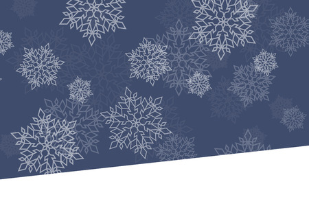 winter night: Winter night background white snowflakes falling Christmas and New Year vector abstract illustration card, banner