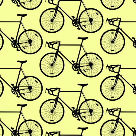 bycicle: Bicycle pattern wallpaper vintage retro vector background concept for poster Illustration