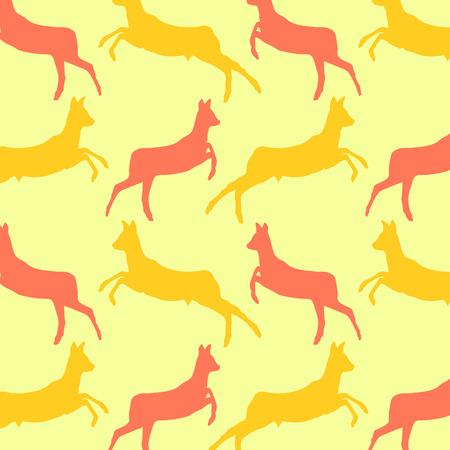 doe: Doe deer animal seamless pattern colorful vector wallpaper for kid background concept