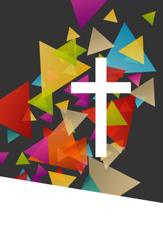 christianity: Christianity religion cross concept abstract background vector illustration