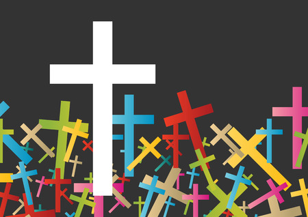 new life: Christianity religion cross concept abstract background vector illustration