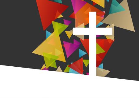 Chrześcijaństwo religią krzyża koncepcja ilustracji wektorowych abstrakcyjne tło
