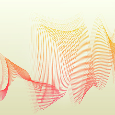 vintage wave: Abstract wave vintage retro lines background vector illustration motion concept