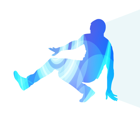 music figure: Hip hop dancer silhouette isolated abstract vector background concept isolated