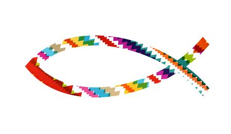 Christian Fisch abstrakte Vektor-Hintergrund Konzept Illustration