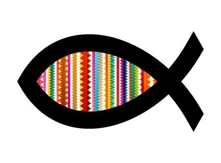 pez cristiano: pescados cristianos vector resumen de antecedentes ilustraci�n del concepto Vectores