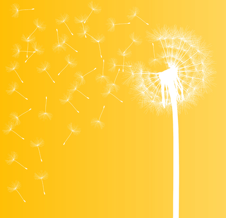 decode: Abstract dandelion background vector illustration springtime concept