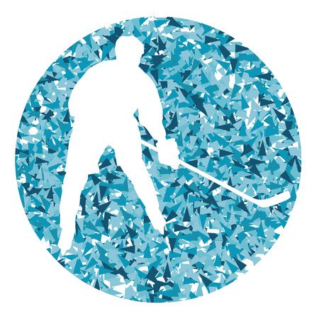 striker: Hockey player vector background abstract illustration concept