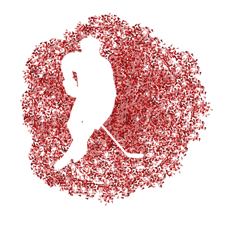 padding: Hockey player vector background abstract illustration concept