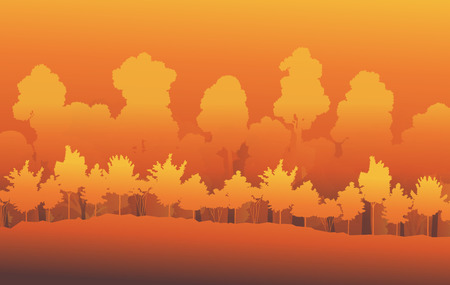 Forest trees abstract vector background landscape