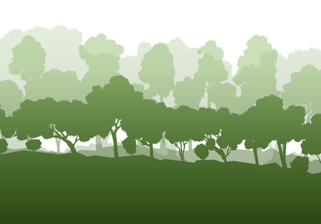 trees forest: Forest trees abstract vector background landscape