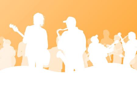 band: Jazz music band vector background illustration Illustration
