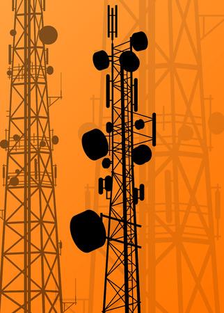 Communication transmission tower radio signal phone antenna vector