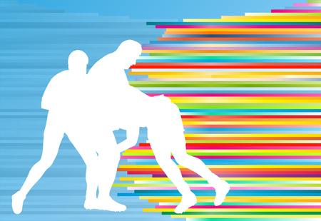 rugby player: Rugby player silhouette abstract vector background concept
