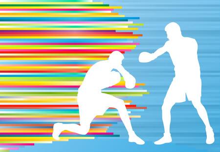 patada: Hombre boxeador profesional combatir vectores partido resumen de antecedentes