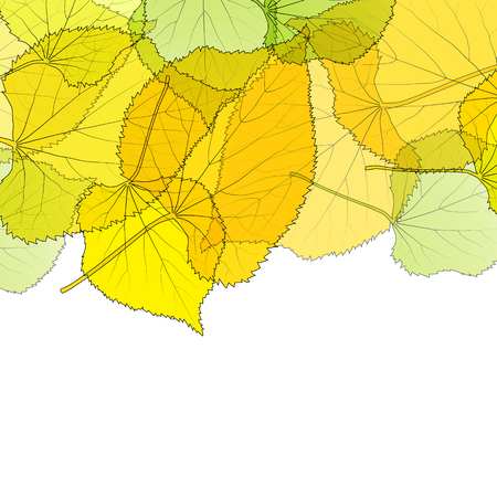 Leaves autumn background vector abstract illustration card with white copy space Illustration