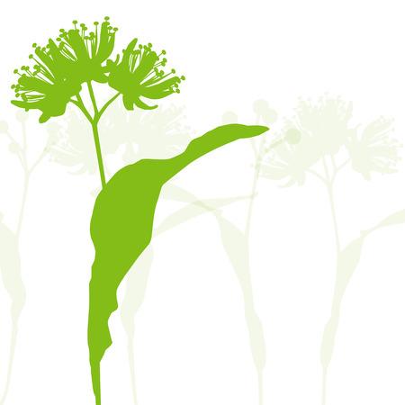Las flores de tila fondo de la ecología del vector ilustración abstracta
