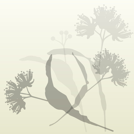 Linden flowers vintage background vector abstract illustration Ilustracja
