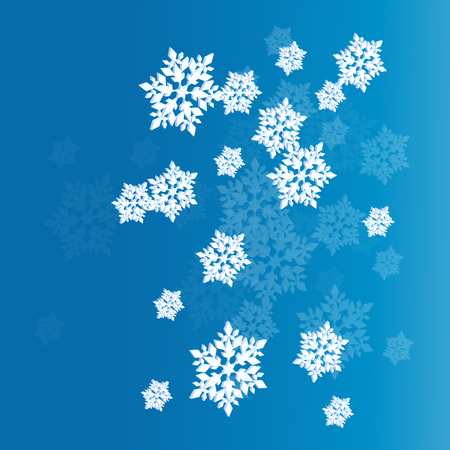 Blue snowflake neon vector background abstract winter concept