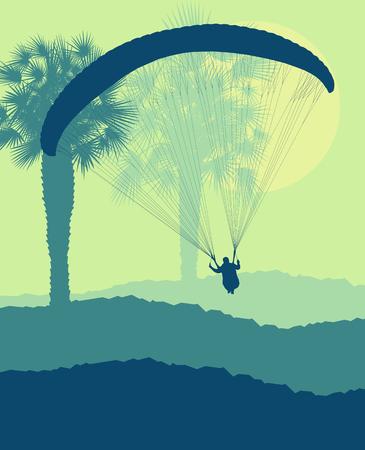 Creative concept of a jump landscape vector background Illustration