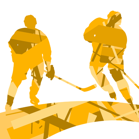 Creative concept of a player sport silhouettes mosaic abstract background illustration vector Illustration