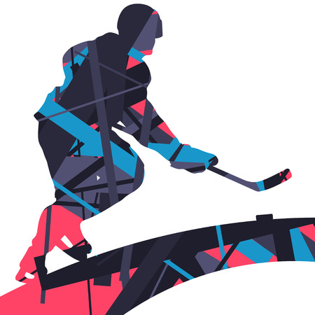 Graphic concept of a player sport silhouettes mosaic abstract background illustration vector