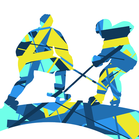 Graphic concept of a sport silhouettes mosaic abstract background illustration vector