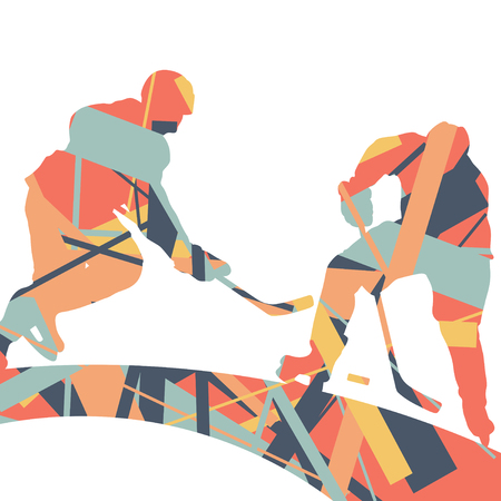 Cute concept of a sport silhouettes mosaic abstract background illustration vector Illustration
