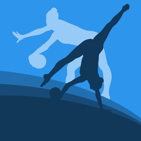 calisthenics: Woman with ball artistic gymnastics vector abstract background Illustration