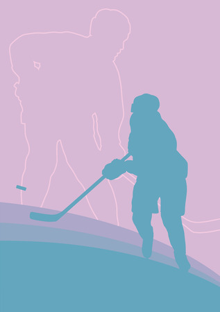 padding: Hockey player vector abstract background winner concept poster Illustration